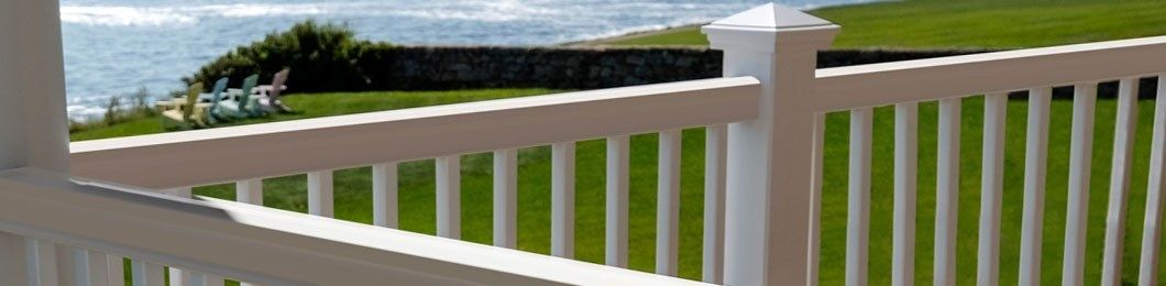 balcony railing guard Deck Railing Systems Kits Porch Railings Fiberon