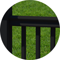 fiberon-symmetry-railing-side-view-black